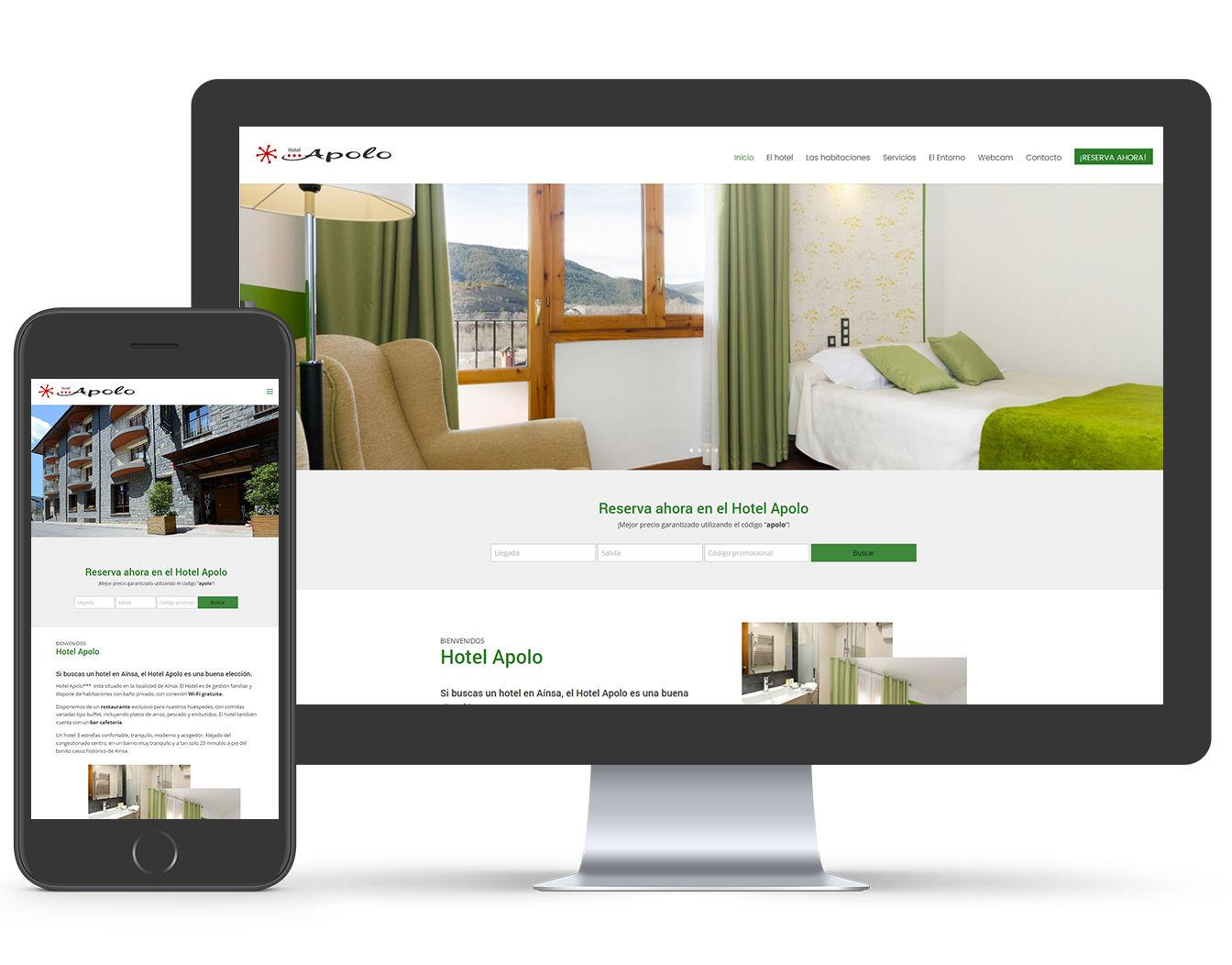 diseño web hoteles wordpress