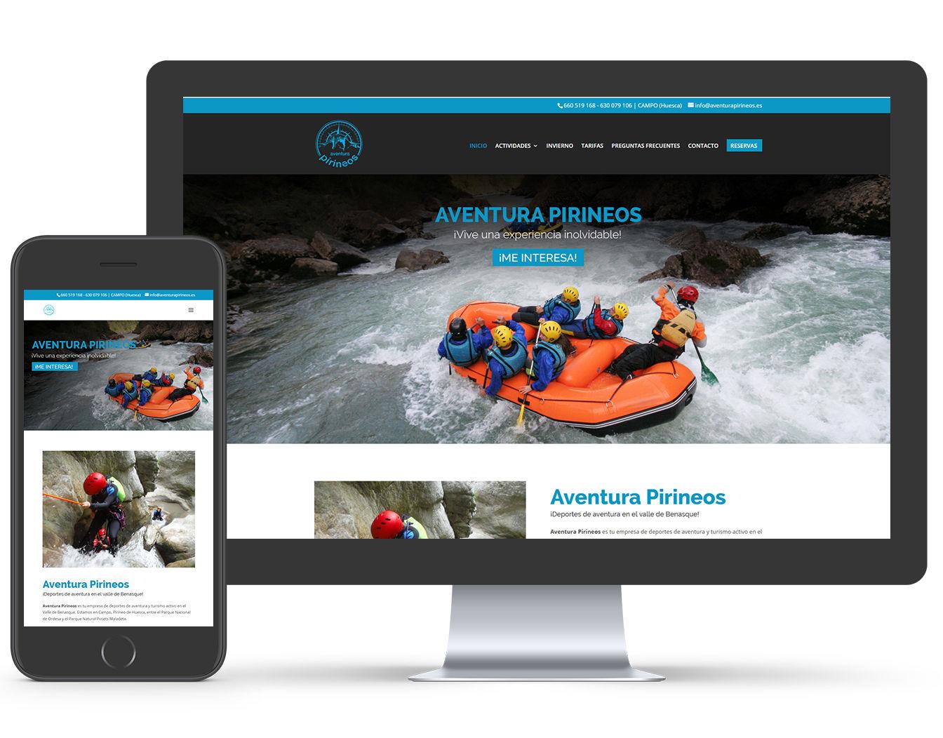 pagina web deportes aventura