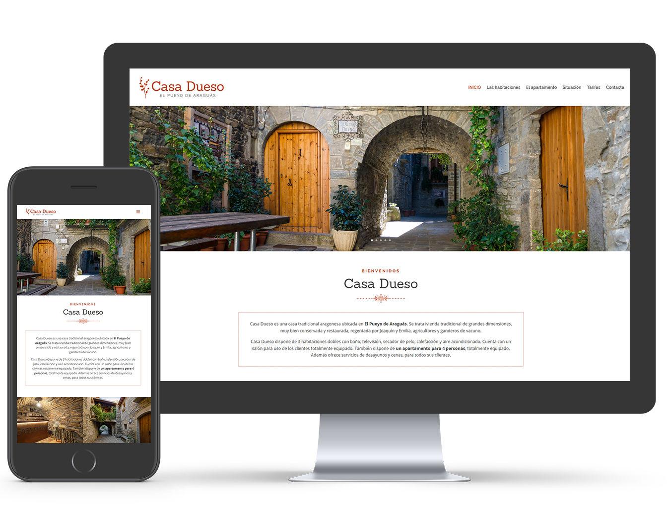 diseño web casa rural
