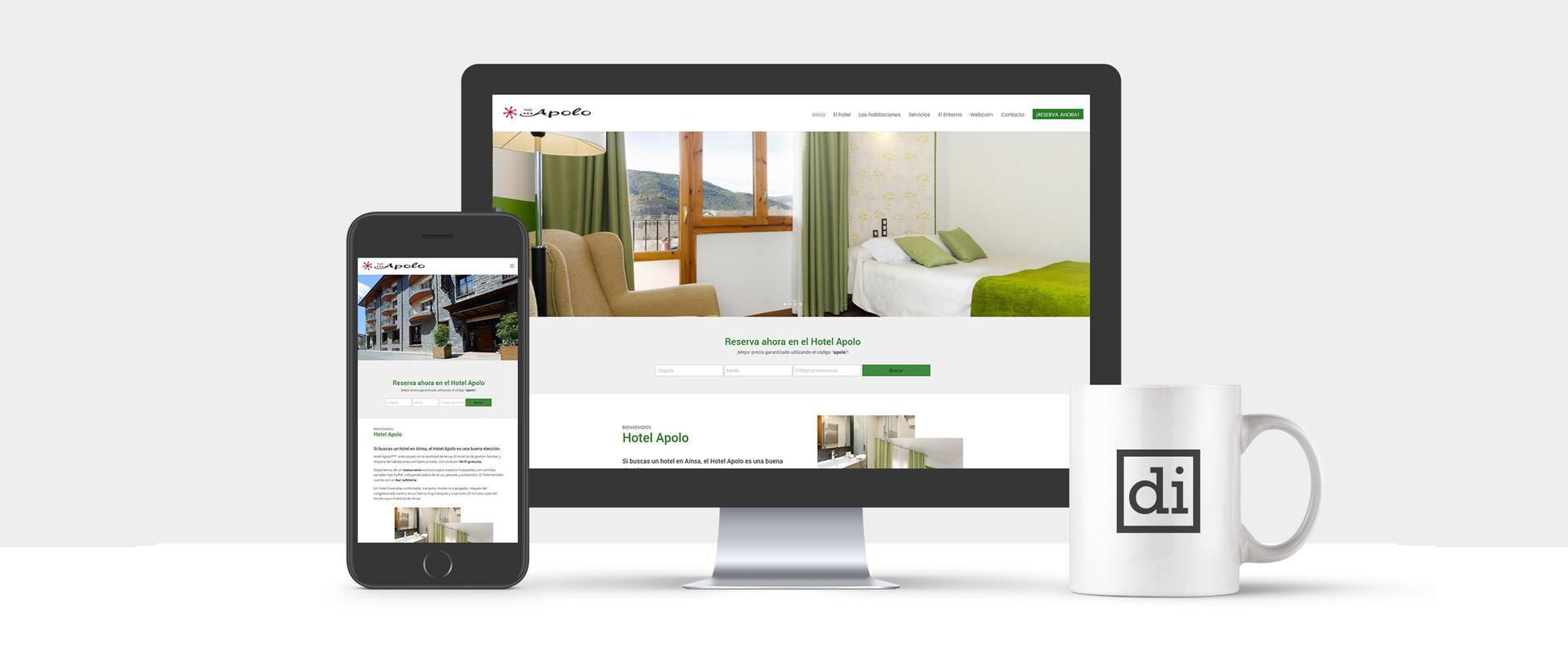 página web para hoteles