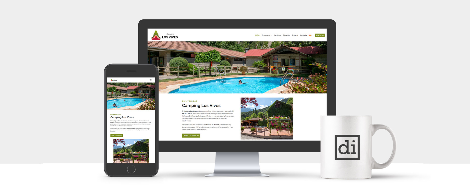 página web para campings