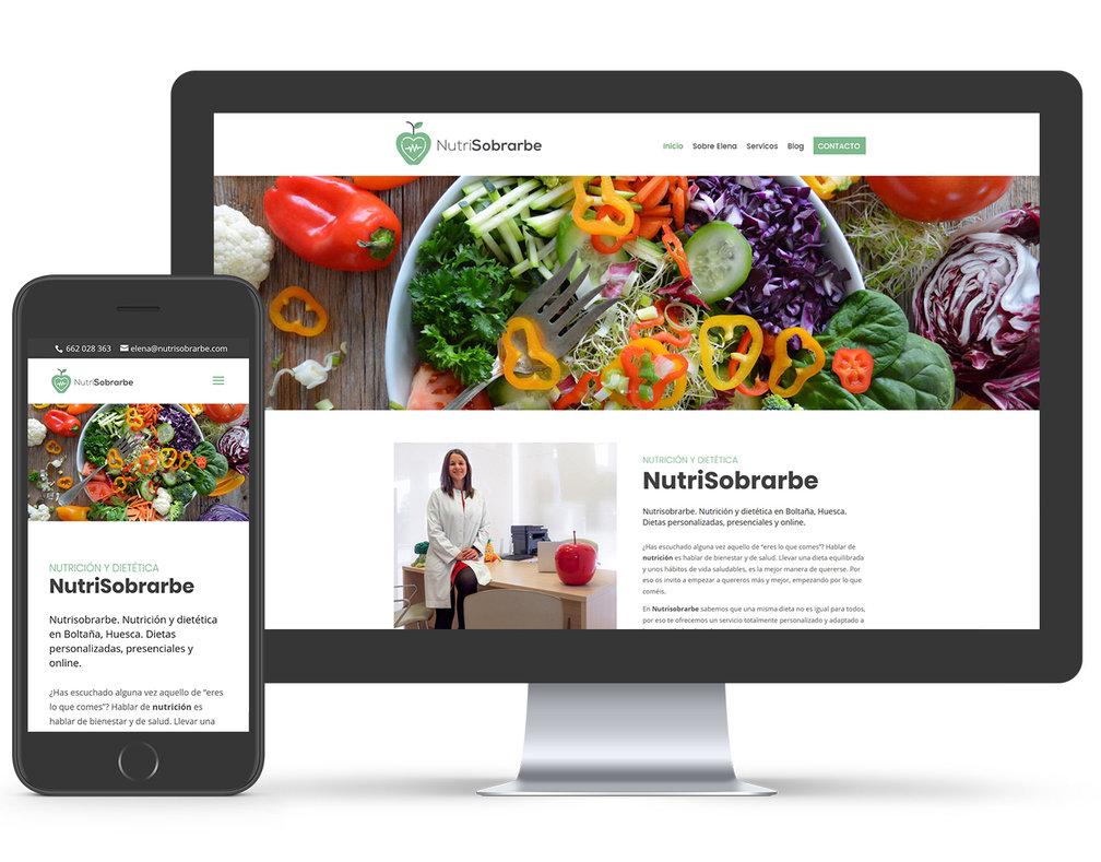 pagina web nutricionista